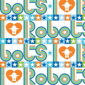 I love robots border 50% reduced