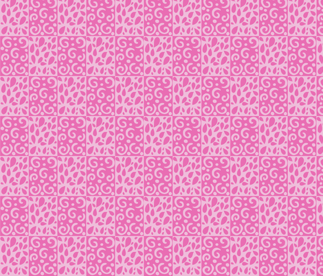 petals and swirl in pinks fabric by alyson_chase on Spoonflower - custom fabric