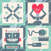 Robot Love (Cheater Quilt)