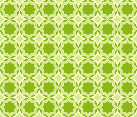 Green Star fabric by mgterry on Spoonflower - custom fabric
