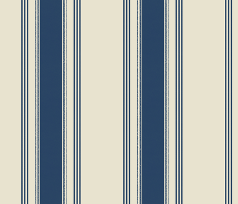 Ticking in french blue fabric by domesticate on Spoonflower - custom fabric
