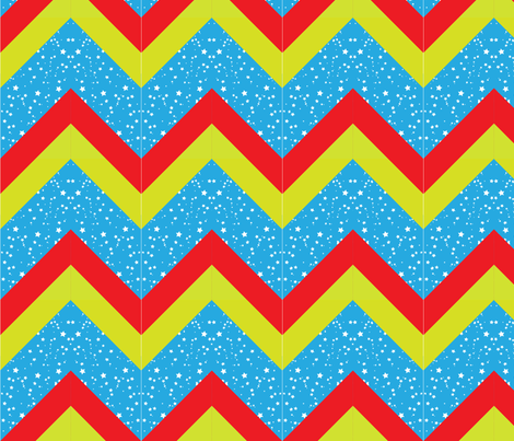robot_chevron_final fabric by wendyg on Spoonflower - custom fabric