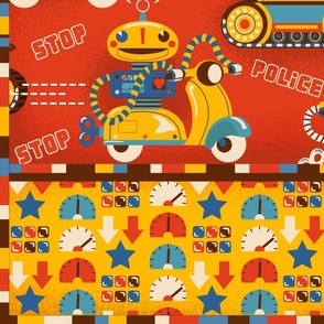 Speeding Robots Cheater Quilt