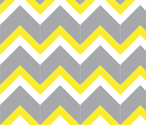 robot_chevron_grey fabric by wendyg on Spoonflower - custom fabric