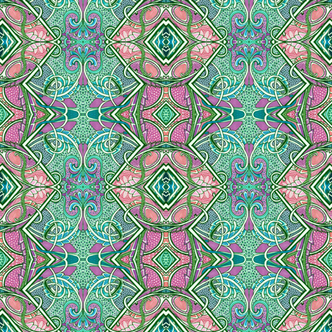 In a Peacock's Eye (zig zag vertical stripe) fabric by edsel2084 on Spoonflower - custom fabric