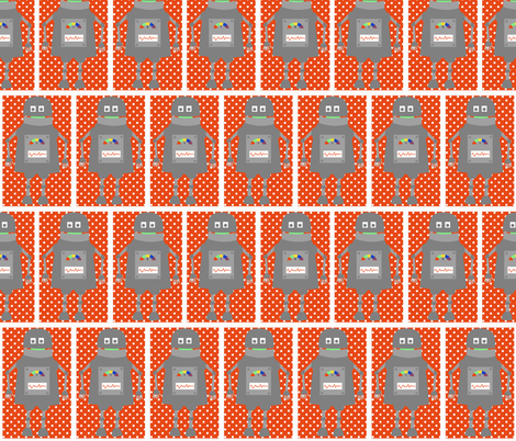 Robot Squares fabric by meg56003 on Spoonflower - custom fabric