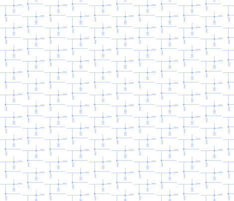 schematics light blue on white fabric by demouse on Spoonflower - custom fabric
