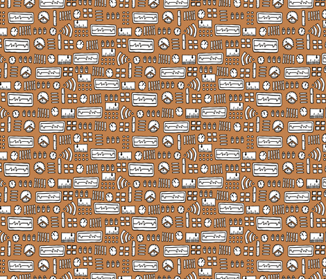 robot-panel fabric by babysisterrae on Spoonflower - custom fabric