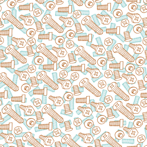 robot-screws2 fabric by babysisterrae on Spoonflower - custom fabric