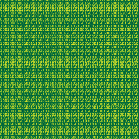 RobotBinaryGreen fabric by ghennah on Spoonflower - custom fabric