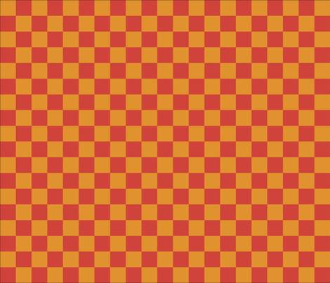 gold and orange checkers fabric by vo_aka_virginiao on Spoonflower - custom fabric