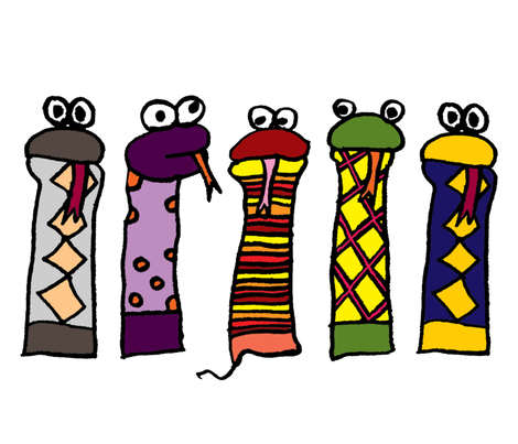 Large Slithery Socks fabric by ravenous on Spoonflower - custom fabric