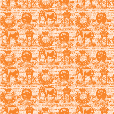 Regiment Orange on White Small Scale fabric by susiprint on Spoonflower - custom fabric