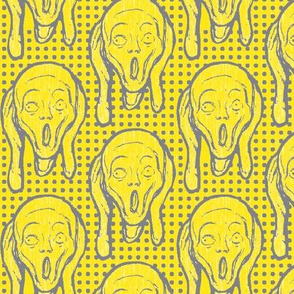 Scream Grey on Yellow