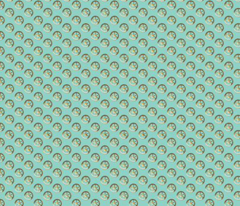 spare parts gears-turquoise fabric by glimmericks on Spoonflower - custom fabric