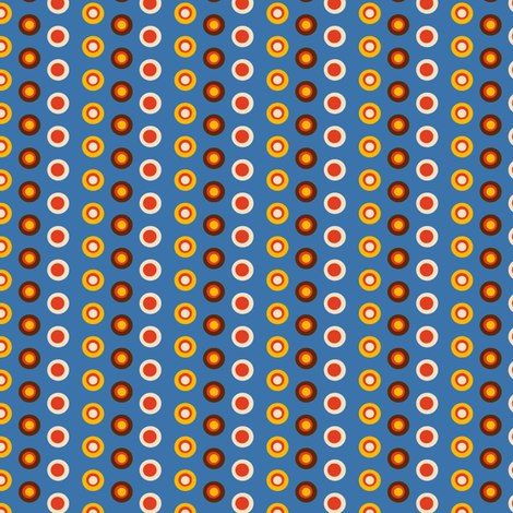 Robot Chase | Funny Dots fabric by irrimiri on Spoonflower - custom fabric