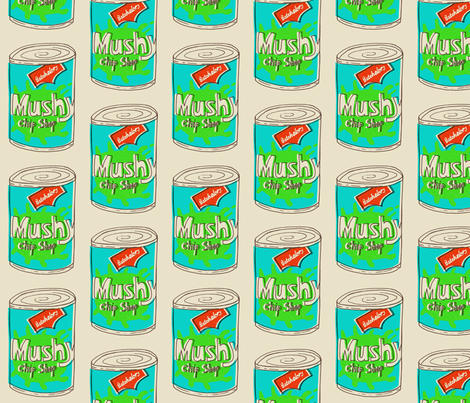mushy peas fabric by mummysam on Spoonflower - custom fabric