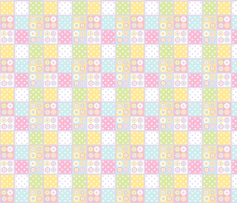 Patchwork in pastels fabric by elizabethjones on Spoonflower - custom fabric