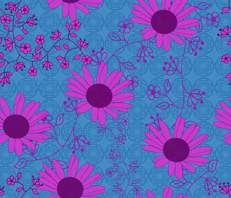 Big Flowers fabric by alexsan on Spoonflower - custom fabric