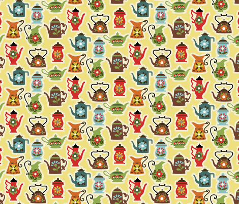 Kettle Rattle / Egg fabric by hoodiecrescent&stars on Spoonflower - custom fabric