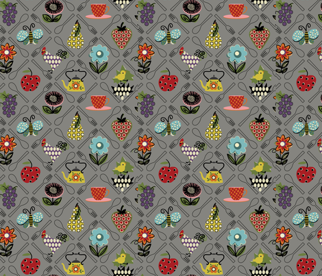 Sweet Garden / Vintage fabric by hoodiecrescent&stars on Spoonflower - custom fabric
