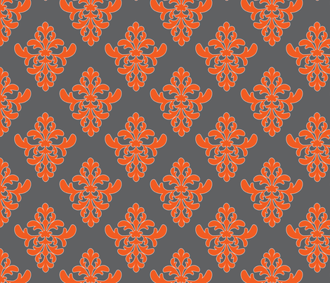 Flourish_Damask-ch fabric by lkglioness on Spoonflower - custom fabric