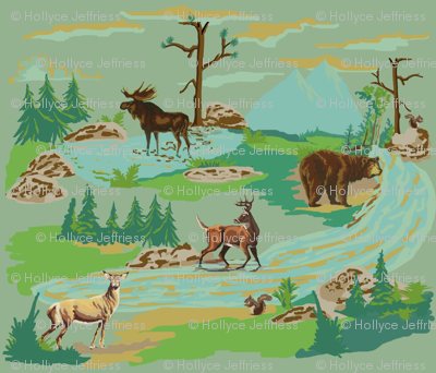 Paint by number woodland animals
