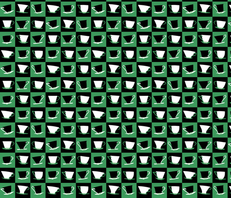Time for Tea (jade) fabric by bippidiiboppidii on Spoonflower - custom fabric