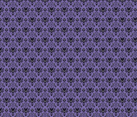 Haunted Mansion Wallpaper Fabric fabric by mx_angel on Spoonflower - custom fabric