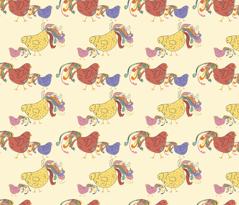 Chick_Chick_small fabric by ©_lana_gordon_rast_ on Spoonflower - custom fabric