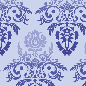 Rainbow Damask (Blue)