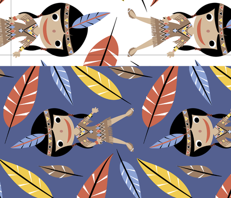 Native American Girl fabric by happyjonestextiles on Spoonflower - custom fabric