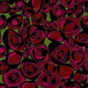 Deep Red Deco Rose