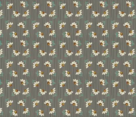 daisy_shower-gray fabric by hoodiecrescent&stars on Spoonflower - custom fabric