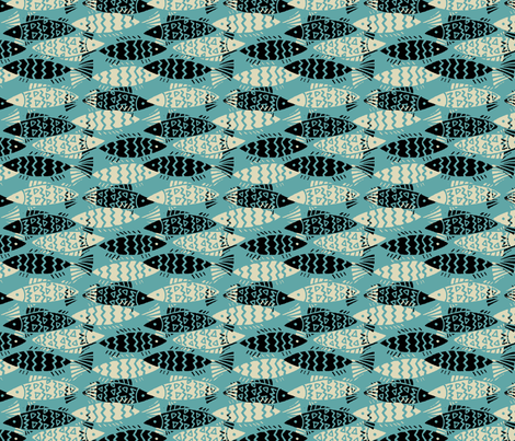 swim_together-aqua fabric by hoodiecrescent&stars on Spoonflower - custom fabric