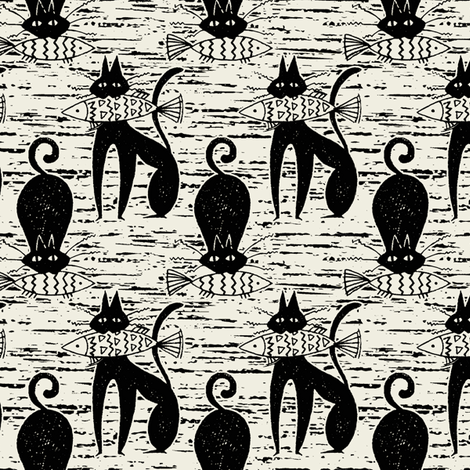 Casting_Cat fabric by hoodiecrescent&stars on Spoonflower - custom fabric