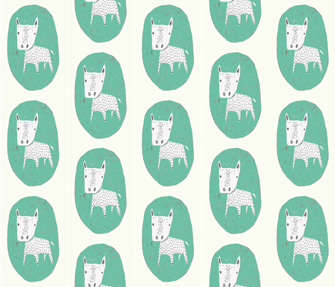 greendog fabric by lutawolf on Spoonflower - custom fabric