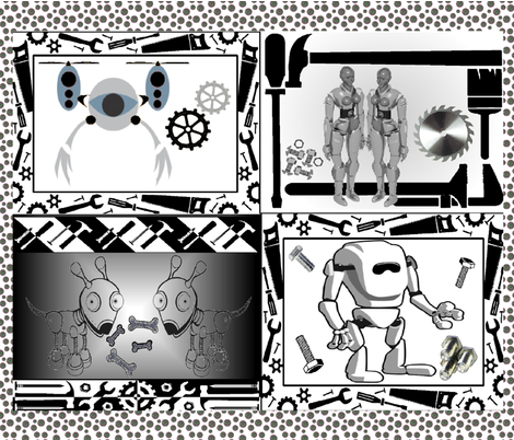 ROBOT SHOP fabric by bluevelvet on Spoonflower - custom fabric