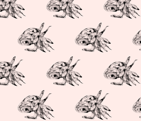 little squid fabric by smint on Spoonflower - custom fabric