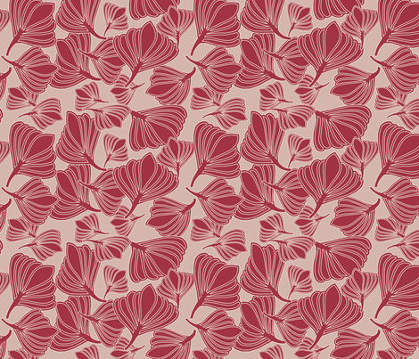 Tulip Seeds Jester Red  fabric by leeandallandesign on Spoonflower - custom fabric