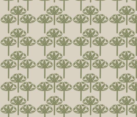Abstract Gerbra Mosstone fabric by leeandallandesign on Spoonflower - custom fabric
