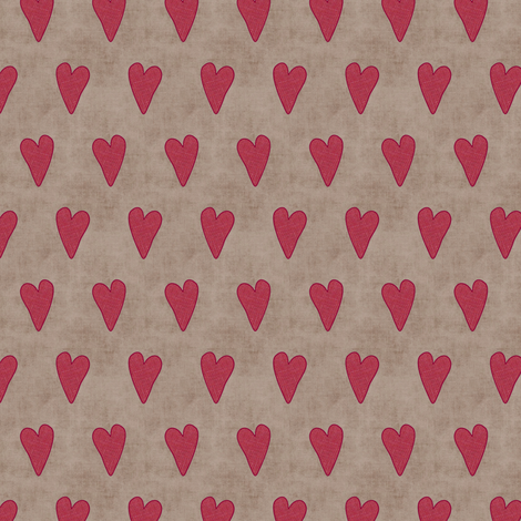Strawberry Hearts fabric by forest&sea on Spoonflower - custom fabric
