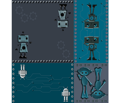 RobotCheaterBig fabric by ninjaauntsdesigns on Spoonflower - custom fabric