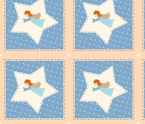patchwork_angel fabric by twosister42 on Spoonflower - custom fabric