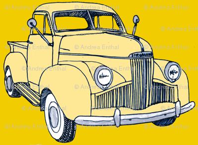 1940's Studebaker truck  cream on yellow M Series