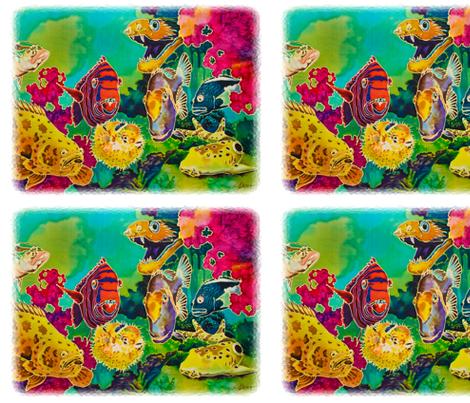 Tropical Fish  fabric by greerdesign on Spoonflower - custom fabric