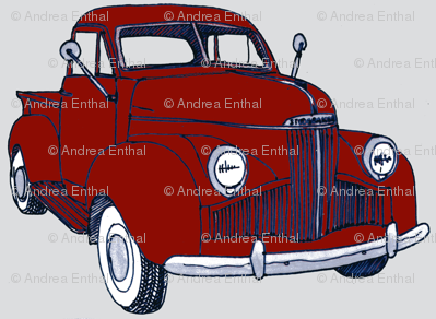 1940's Studebaker truck M Series/Coupe Express red on gray
