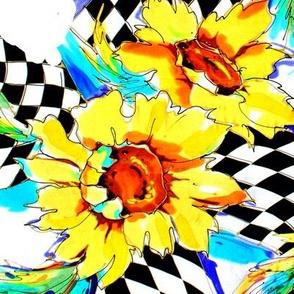 Harlequin Bright Yellow Sunflower