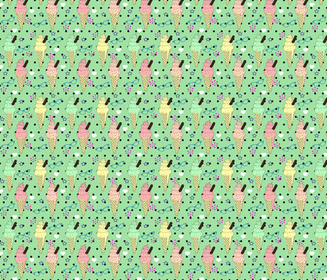 Scream for Ice cream fabric by glanoramay on Spoonflower - custom fabric