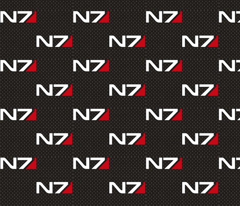 N7 (repeat) fabric by retropopsugar on Spoonflower - custom fabric